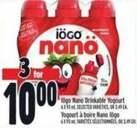 Iögo Nano Drinkable Yogourt 6 X 93 ml