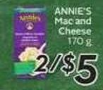 Annie's Mac and Cheese - 50 Air Miles Bonus Miles