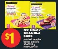 No Name Granola Bars - 156-158 g