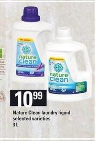 Nature Clean Laundry Liquid.3 L