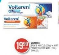 Voltaren Back & Muscle (120g) or Joint Pain Extra Strength (100g)