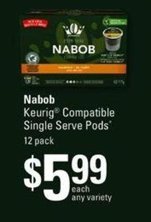 Nabob Keurig Compatible Single Serve PODS - 12 Pack