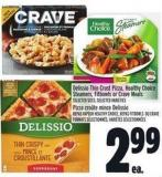 Delissio Thin Crust Pizza - Healthy Choice Steamers - Fitbowls Or Crave Meals