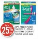 Opti-free Replenish Solution (2 X 300ml) or Systane Eye Drops