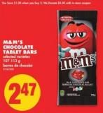 M&m's Chocolate Tablet Bars - 107-113 g