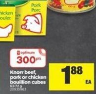 Knorr Beef - Pork Or Chicken Bouillion Cubes - 63-72 g