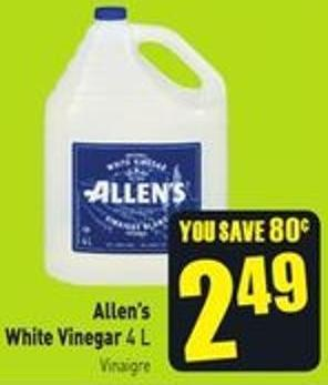 Allen's White Vinegar 4 L