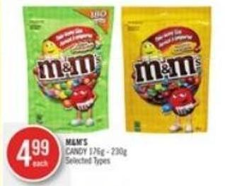 M&m's Candy 176g - 230g