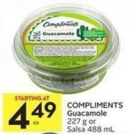 Compliments Guacamole 227 g or Salsa 488 mL