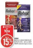 Robax Muscle & Back Pain Relief Caplets (40's - 60's) or Heat Wraps