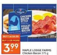 Maple Lodge Farms Chicken Bacon 375 g