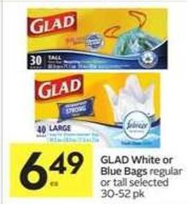 Glad White or Blue Bags