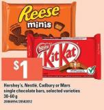 Hershey's - Nestlé - Cadbury Or Mars Single Chocolate Bars -  - 30-60 G