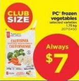 PC Frozen Vegetables - 1.75 Kg