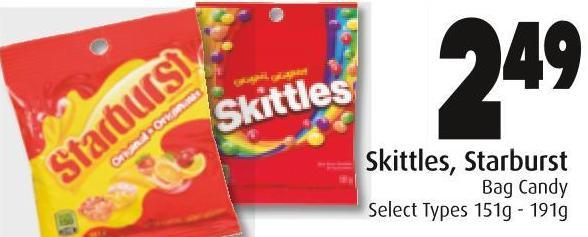 Skittles - Starburst Bag Candy
