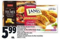 Janes Pub Style Breaded Chicken Selected Varieties Or Irresistibles Tex Mex Stuffed Chicken Breast Frozen