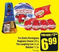 Tre Stelle Parmigiano Reggiano Cheese 200 g The Laughing Cow 24 Pk Babybel 12 Pk
