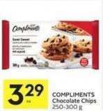 Compliments Chocolate Chips 250-300 g 329