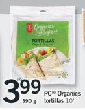 PC Organics Tortillas.10in - 390 g