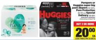 Pampers Or Huggies Super Big Pack Diapers - 42-124's - Pure Protection - 38-74's or Special Delivery - 36-66's