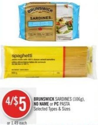 Brunswick Sardines (106g) - No Name or PC Pasta