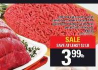 Sirloin Tip Oven Roast Or Steak - Grade Beef Or Higher Or Extra Lean Ground Beef