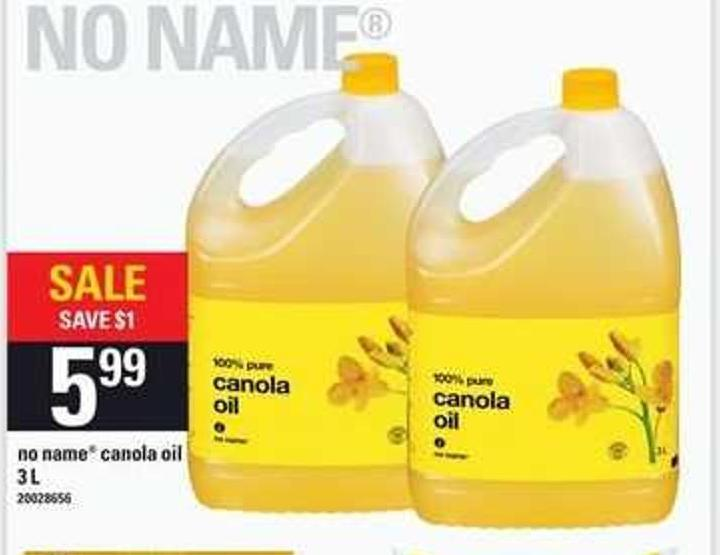 No Name Canola Oil .3 L