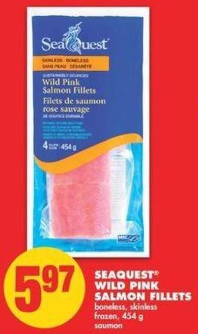 Seaquest Wild Pink Salmon Fillets - 454 G