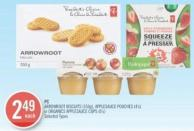 PC Arrowroot Biscuits (350g) - Applesauce Pouches (4's) or Organics Applesauce Cups (6's)