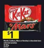 Nestlé - Cadbury - Mars Or Hershey's Chocolate Bars.32-60 g