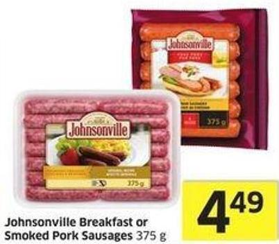 Johnsonville Breakfast or Smoked Pork Sausages 375 g