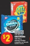 Christie Cookies - 170-303 g or Crackers - 100-454 g
