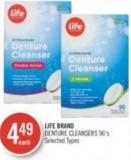 Life Brand Denture Cleansers 96's