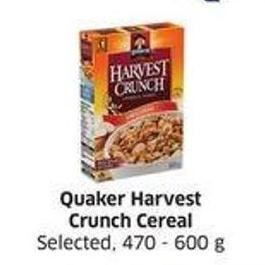 Quaker Harvest Crunch Cereal Selected.
