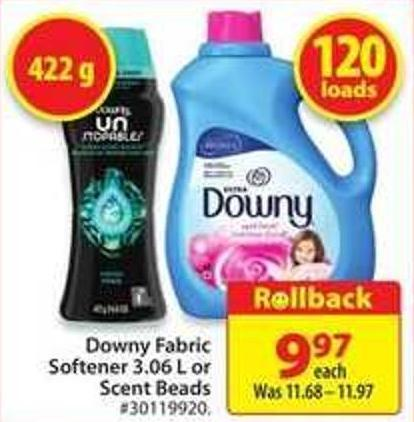 Downy Fabric Softener 3.06 L or Scent Beads