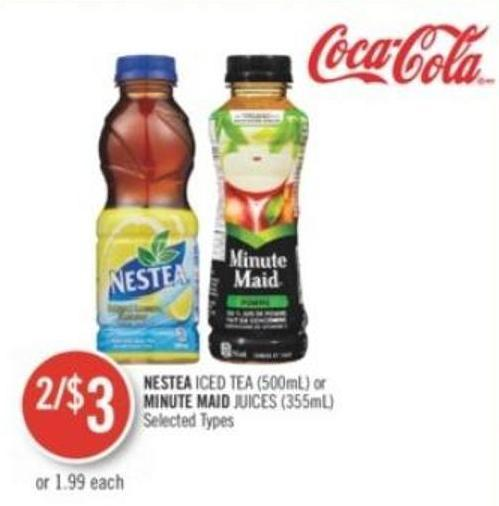 Nestea Iced Tea (500ml) or Minute Maid Juices (355ml)