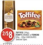 Toffifee (246g) - Terry's Orange or Ferrero (80g - 100g) Chocolates