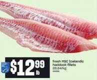 Fresh Msc Icelandic Haddock Fillets