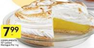Compliments 10in Lemon Meringue Pie 1 Kg