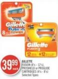 Gillette Fusion (8's - 12's) - Proshield or Proglide Cartridges (4's - 8's)