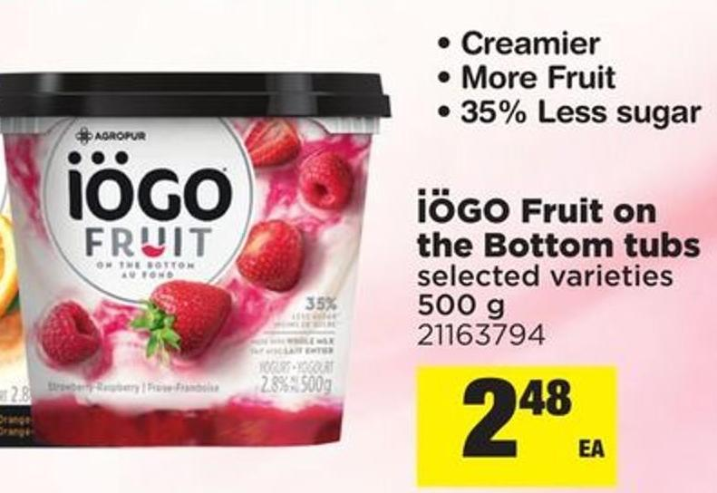 IOGO Fruit On The Bottom Tubs - 500 g