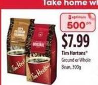 Tim Hortons Ground Or Whole Bean