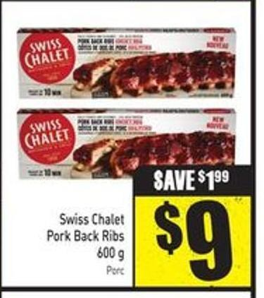 Swiss Chalet Pork Back Ribs 600 g