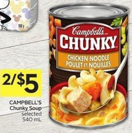 Campbell's Chunky Soup Selected 540 mL