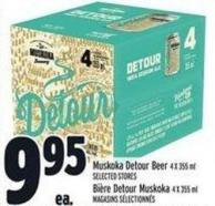 Muskoka Detour Beer 4 X 355 ml