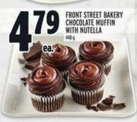 Front Street Bakery Chocolate Muffin With Nutella 440 g
