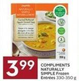 Compliments Naturally Simple Frozen Entrées