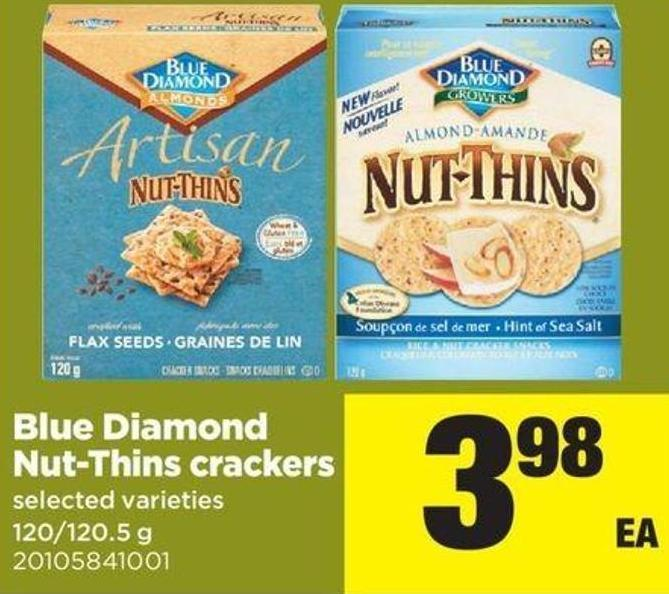 Blue Diamond Nut-thins Crackers - 120/120.5 G