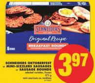Schneiders Oktoberfest or Mini-sizzlers Sausages or Sausage Rounds - 375 g