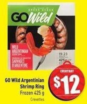 Go Wild Argentinian Shrimp Ring Frozen 425 g